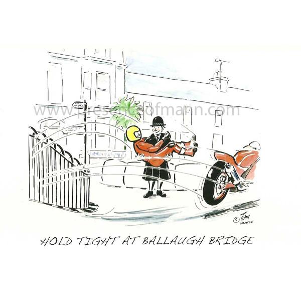 Hancox Art Greeting Card 'Ballaugh Bridge'