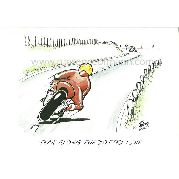 Hancox Art Greeting Card 'Tear Along The Dotted Line'