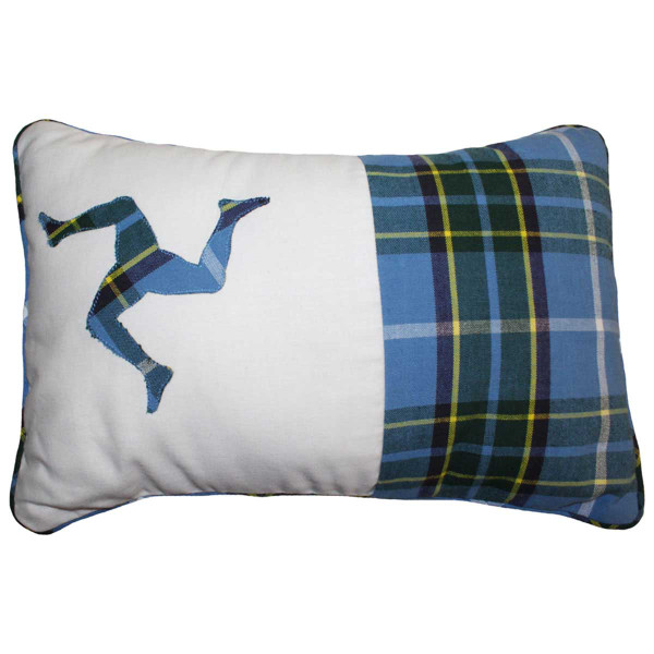 Handmade Manx Tartan 3 Legs Cushion