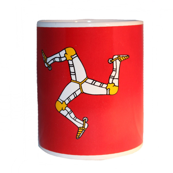 Front view of Manx Flag mug