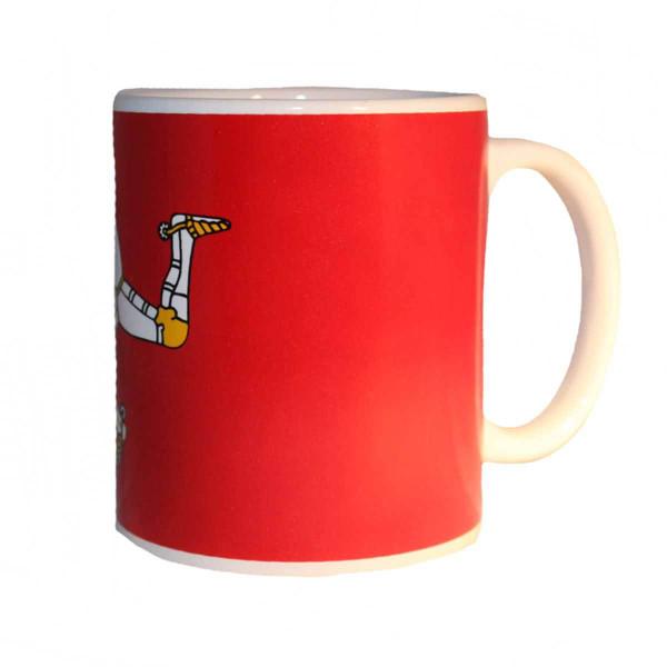 Side view of Manx Flag mug