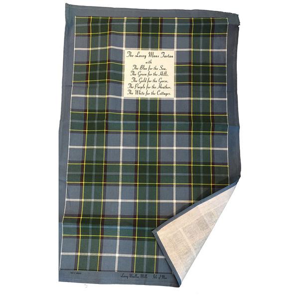 Isle of Man Manx Tartan Tea Towel