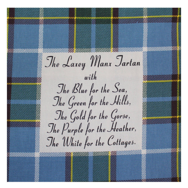 Isle of Man  Manx Tartan T Towel - close up