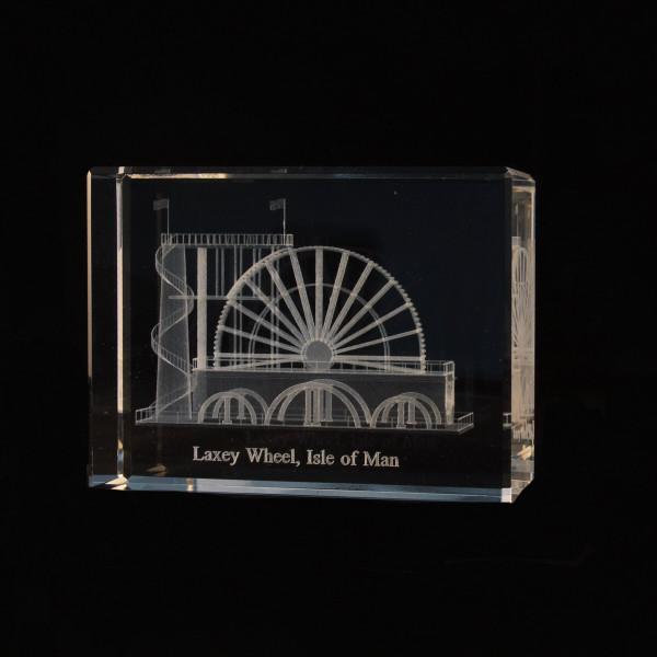 Laxey Wheel Crystal Block
