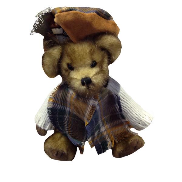 Orry the Manx Hunting Tartan Bear