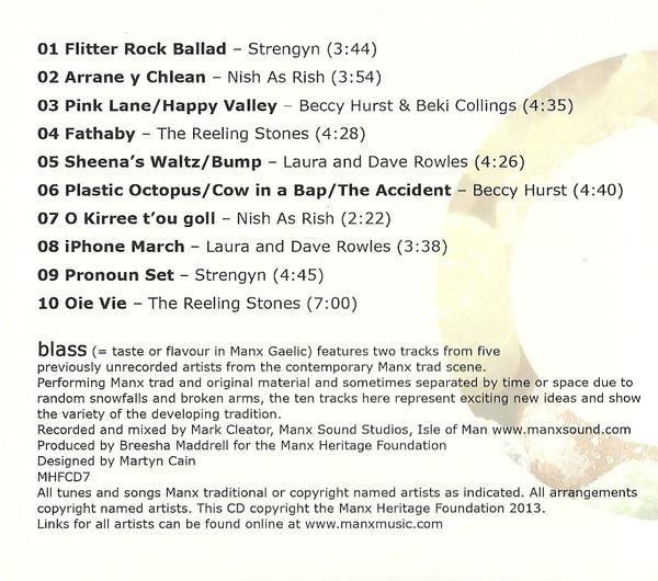 Blass - Flavour, new Manx Music CD