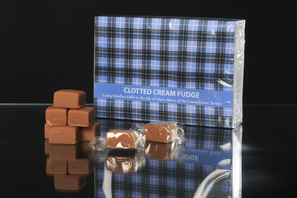 Laxey Manx Tartan Clotted Cream Fudge