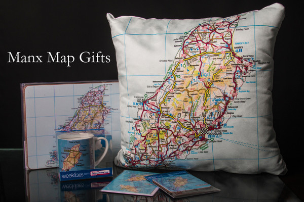 Isle of Man Map Cushion