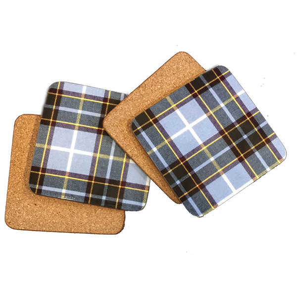 cork backed tartan coasters