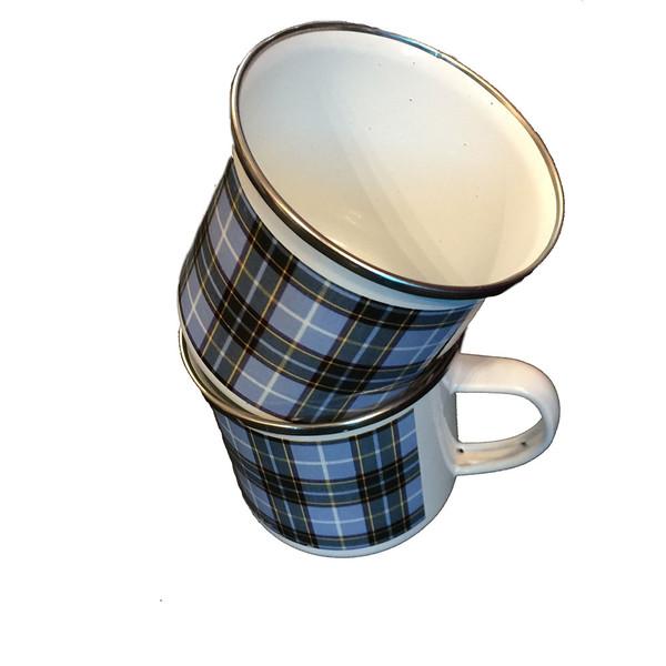 Manx Tartan Tin Mugs