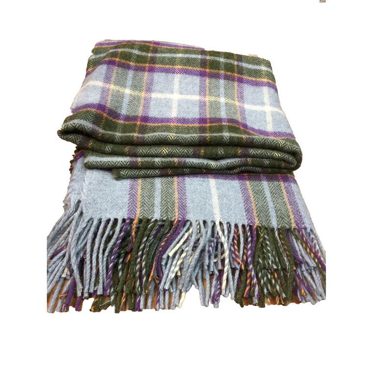 Manx tartan travel rug
