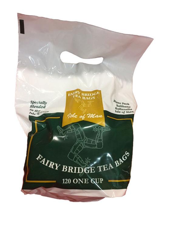 One cup Fairy Bridge tea bags in a bag
