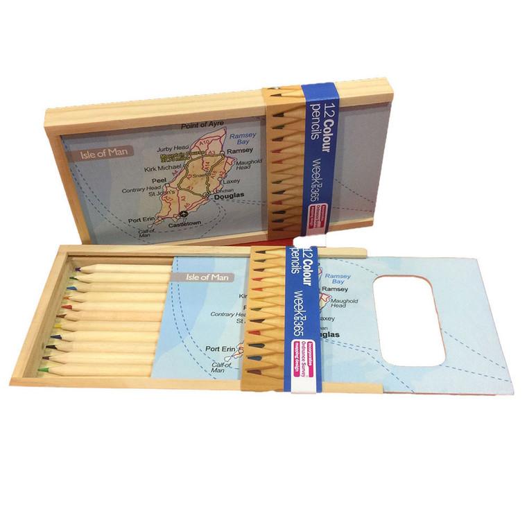 Isle of Man map pencil box