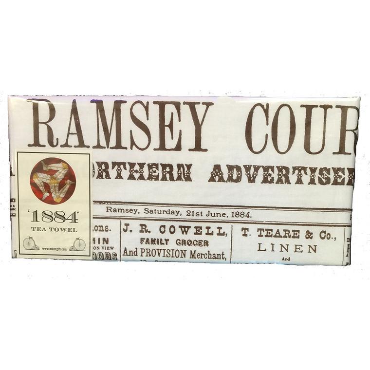 Isle of Man Ramsey Courier Tea Towel