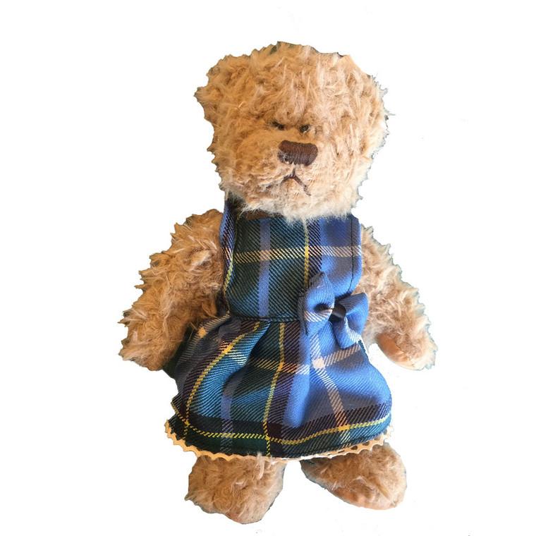 Manx Tartan Bear in a Dress