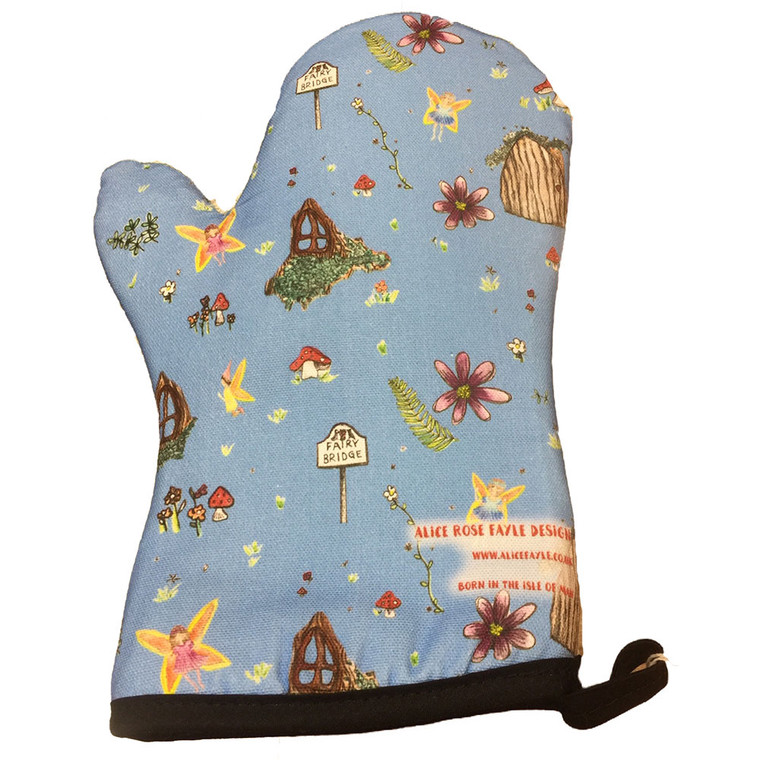 Manx fairies oven glove