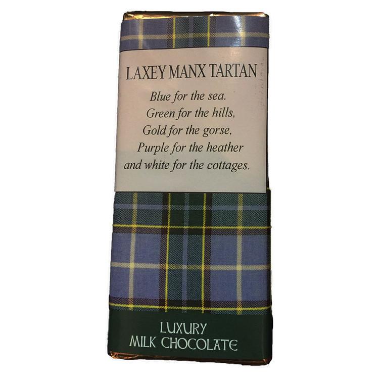 Laxey Manx Tartan Milk Chocolate Bar