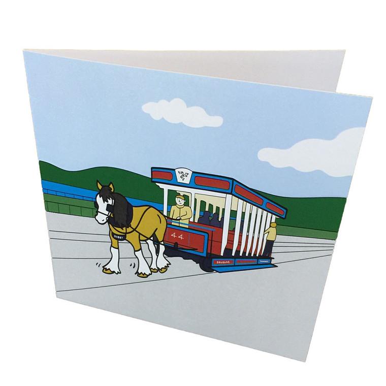 Isle of Man ABC Horse Tram greeting card