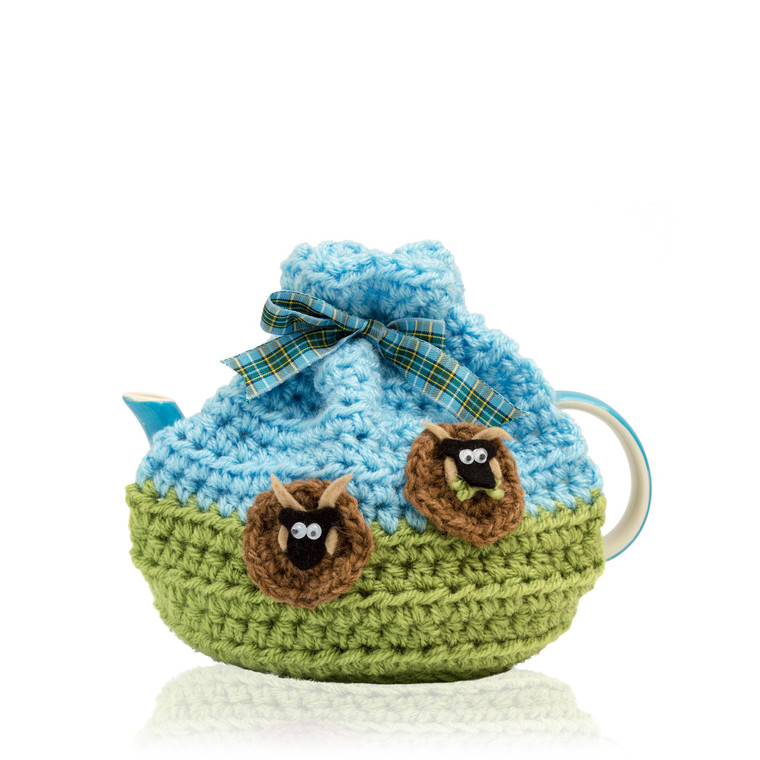 small crochet tea cosy