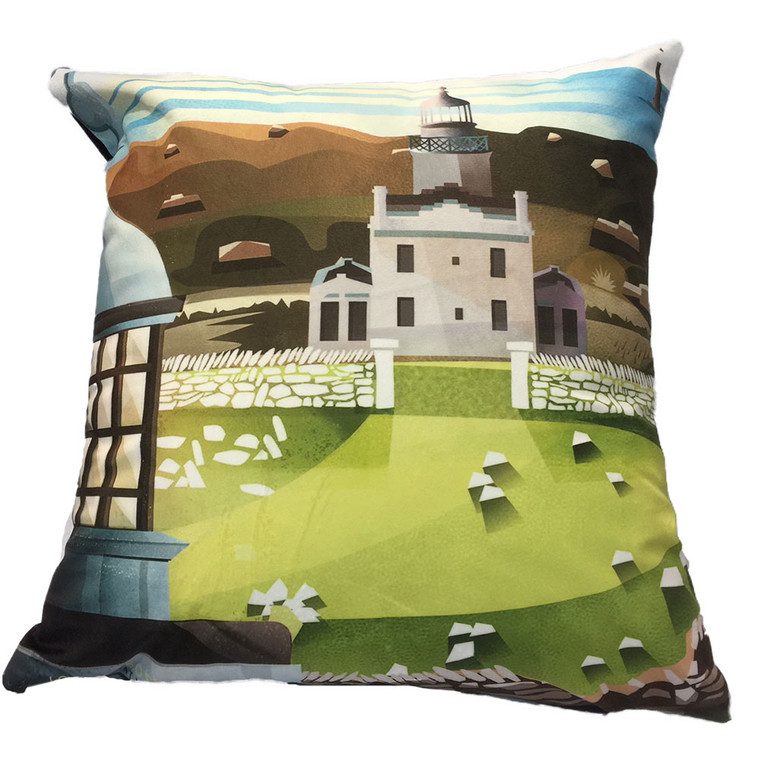 Cushion with the Calf of Man lighthouses