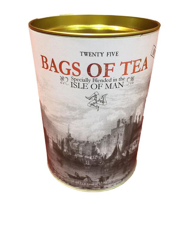 Humorous Tin of Isle of Man Tea Bags