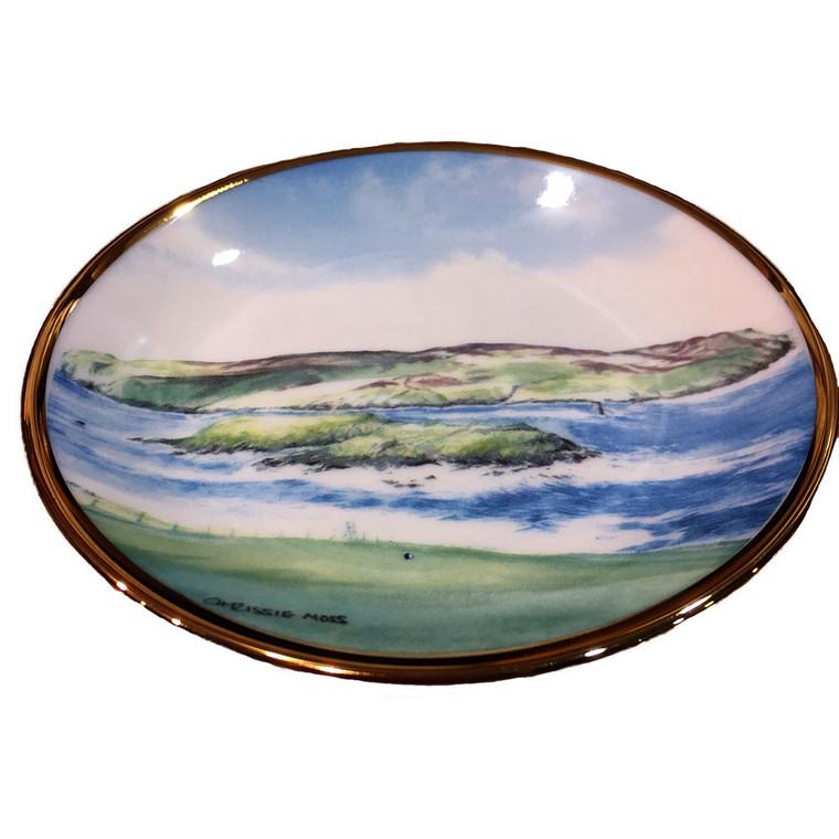 Small Manx scene plate/saucer