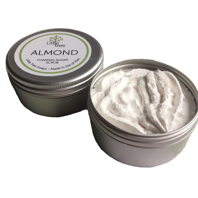 Almond sugar scrub from the Isle of Man