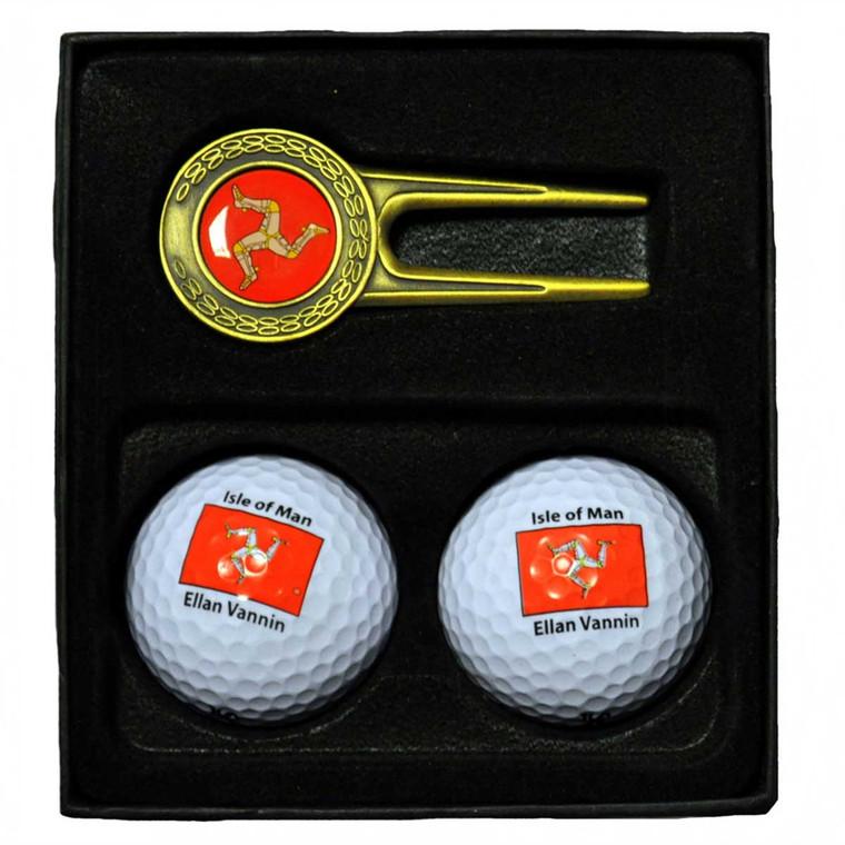 Isle of Man golf gift set