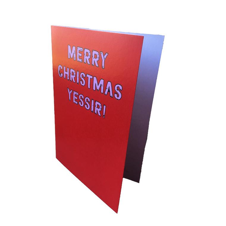 Funny Manx Christmas card
