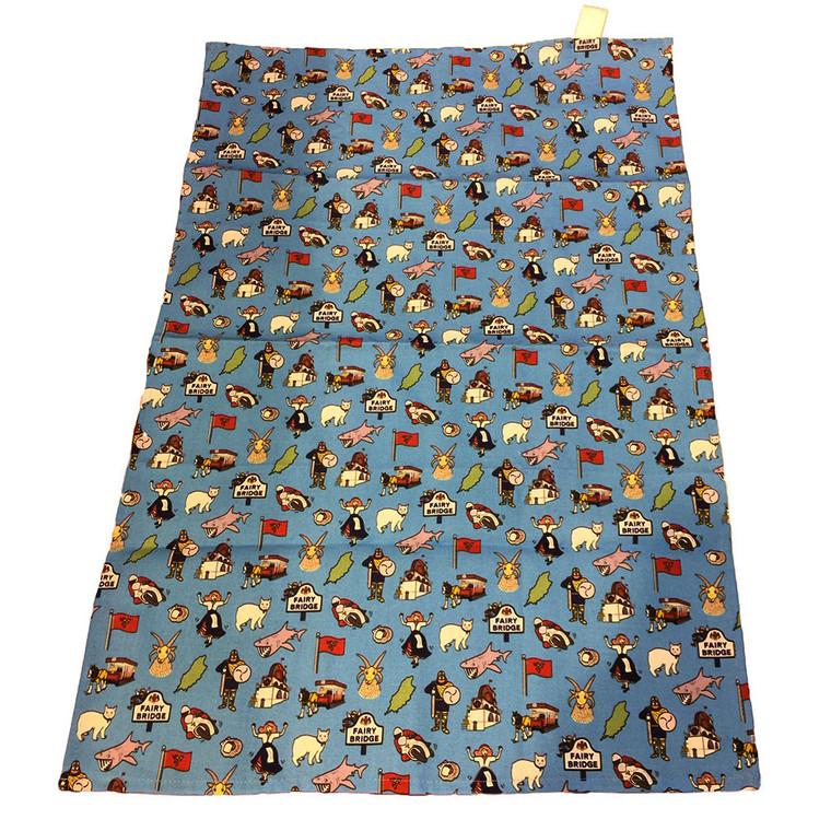 Multi image Isle of Man tea towel