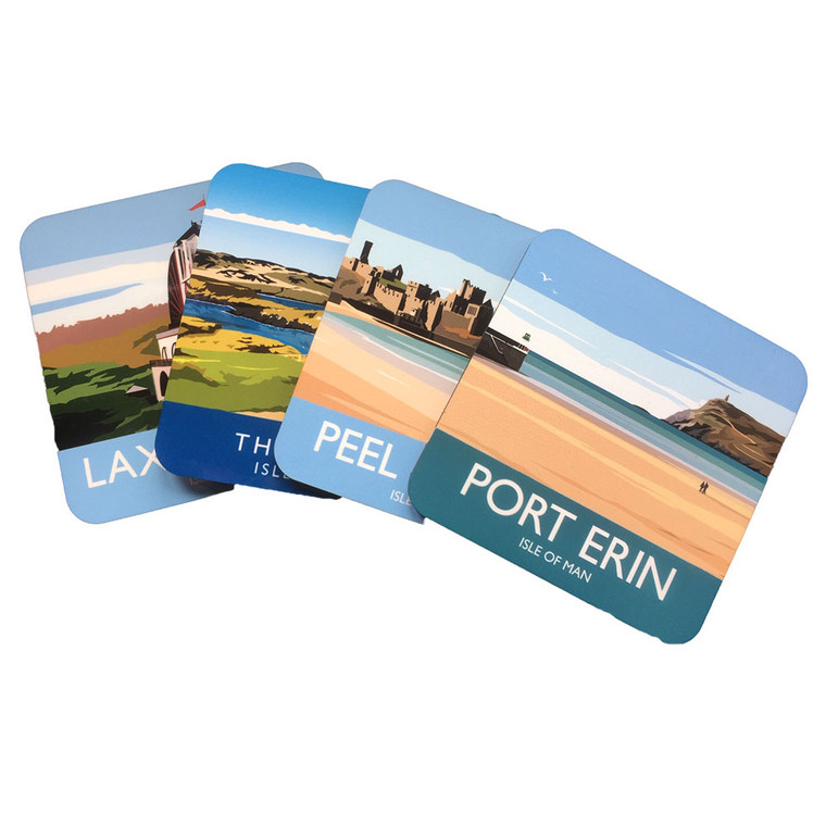 Set of four coasters from the Isle of Man