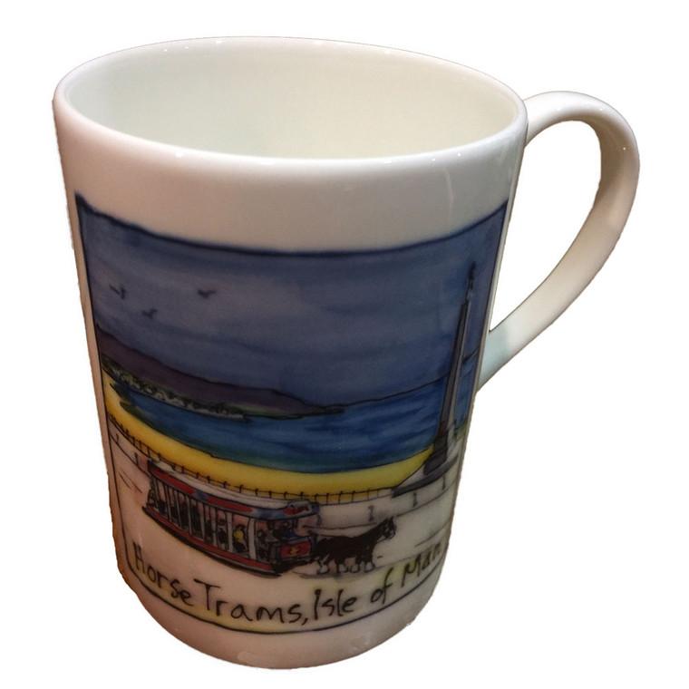 Isle of Man horse tram mug