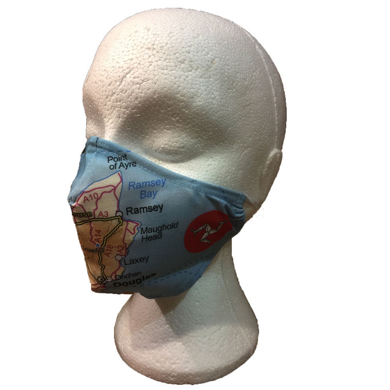 Isle of Man Map Face Mask