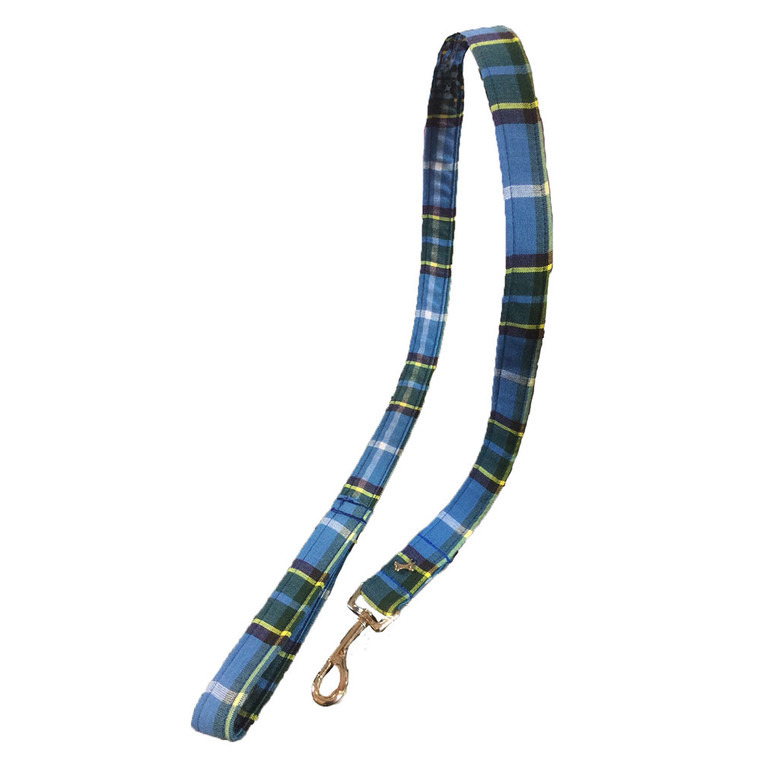Manx tartan dog lead
