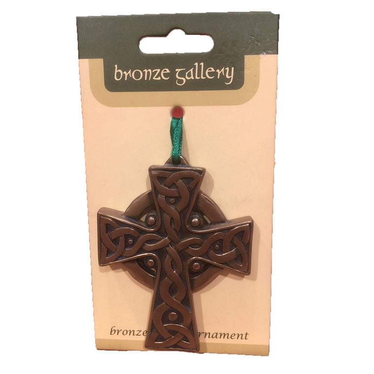 Bronze Effect, Hanging Celtic Cross