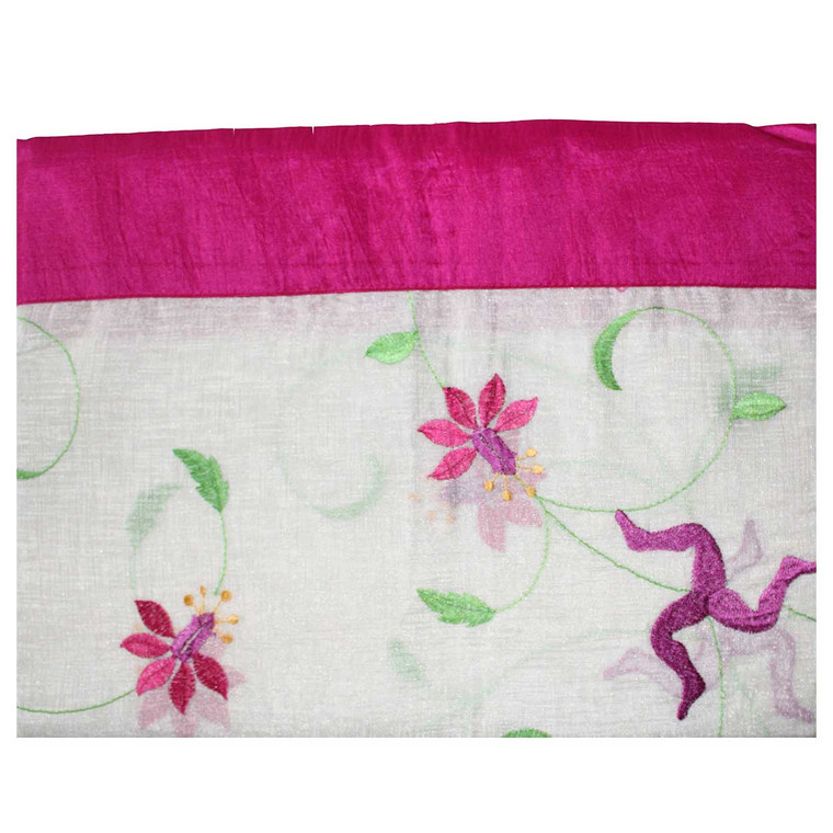 Manx Fuchsia table cloth with 3 legs