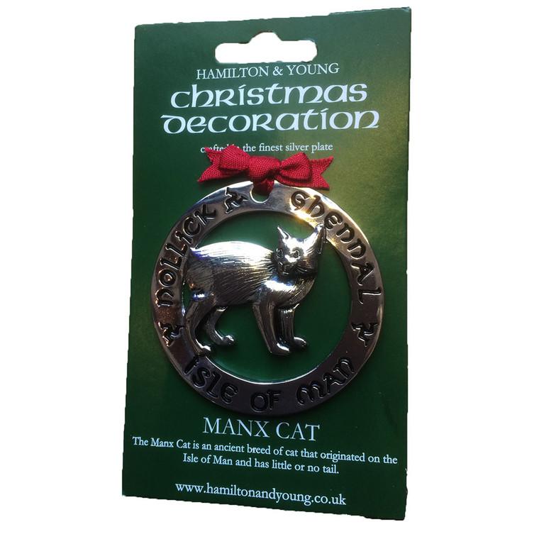 Manx cat Christmas decoration