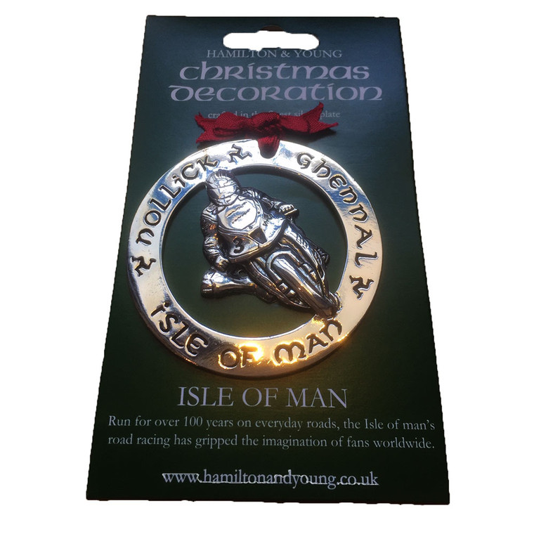 Isle of Man road racing Christmas decoration