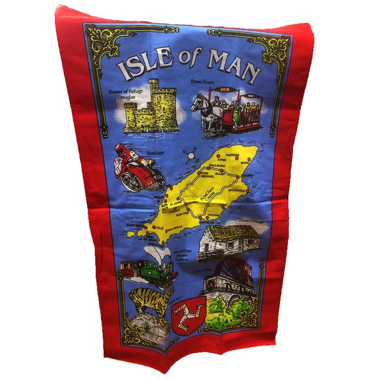Souvenir Isle of Man tea towel