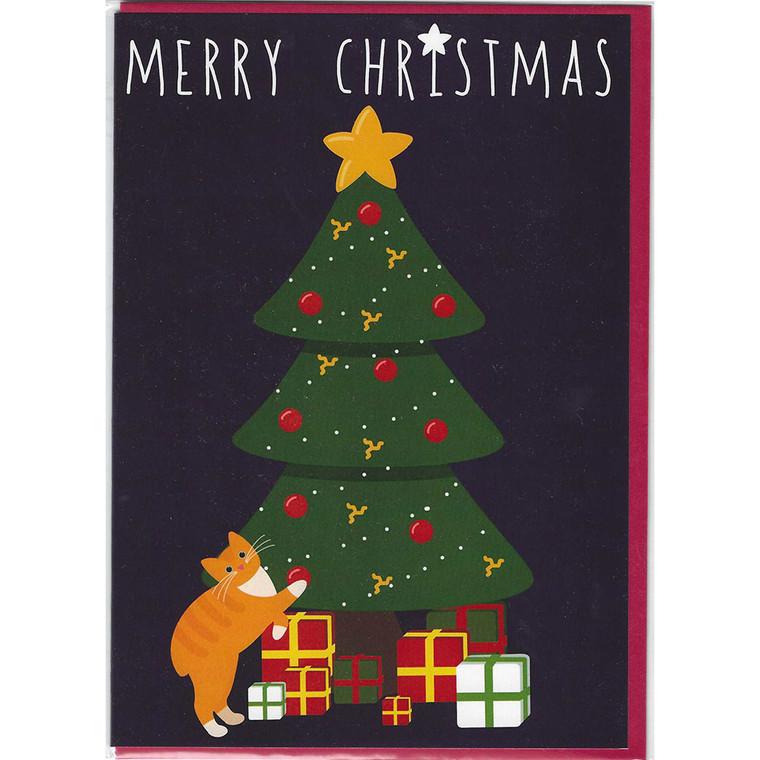 Manx cat Christmas card