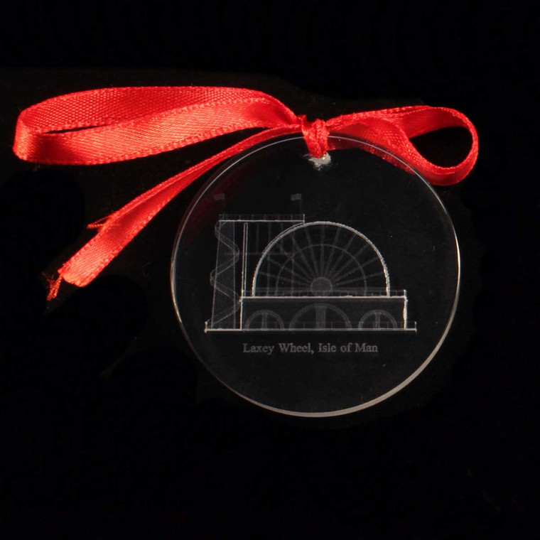 Laxey Wheel Glass Decoration