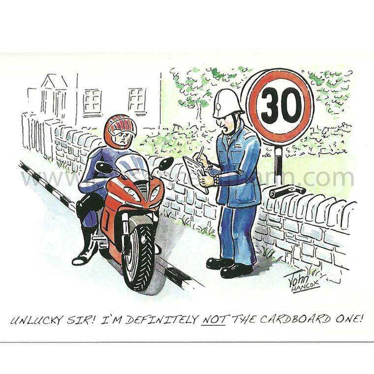 Hancox Art Greeting Card 'Unlucky'