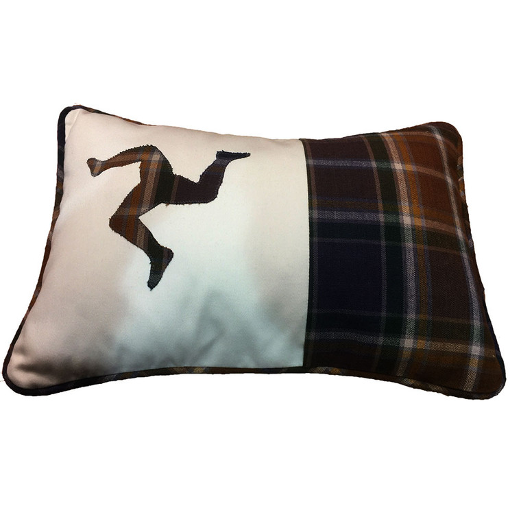 Isle of Man hunting tartan 3 leg cushion