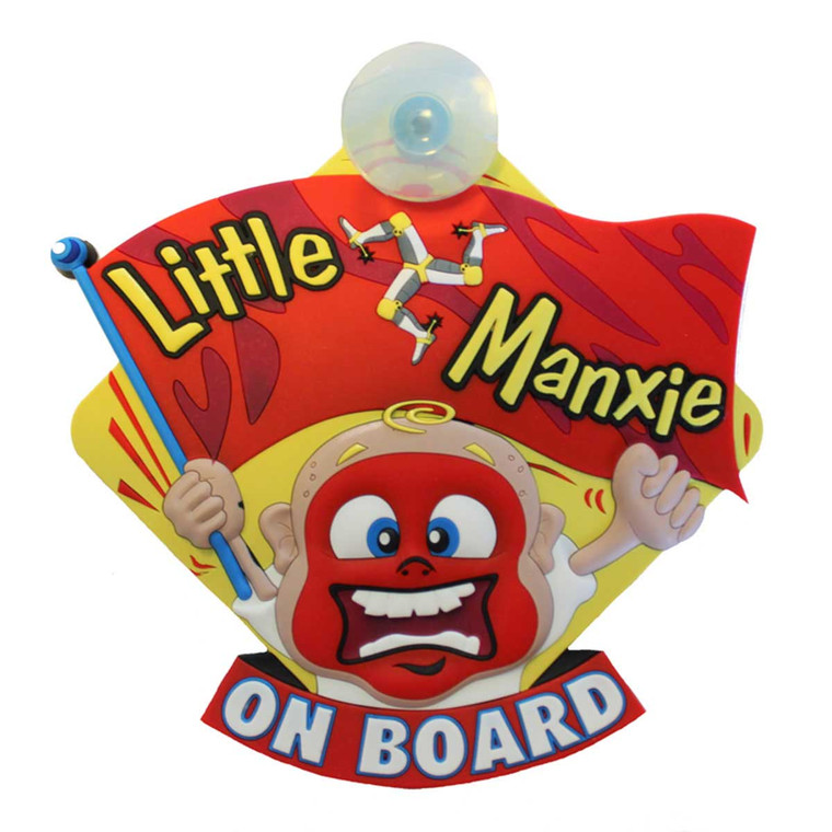 'Little Manxie On Board' Car Sign