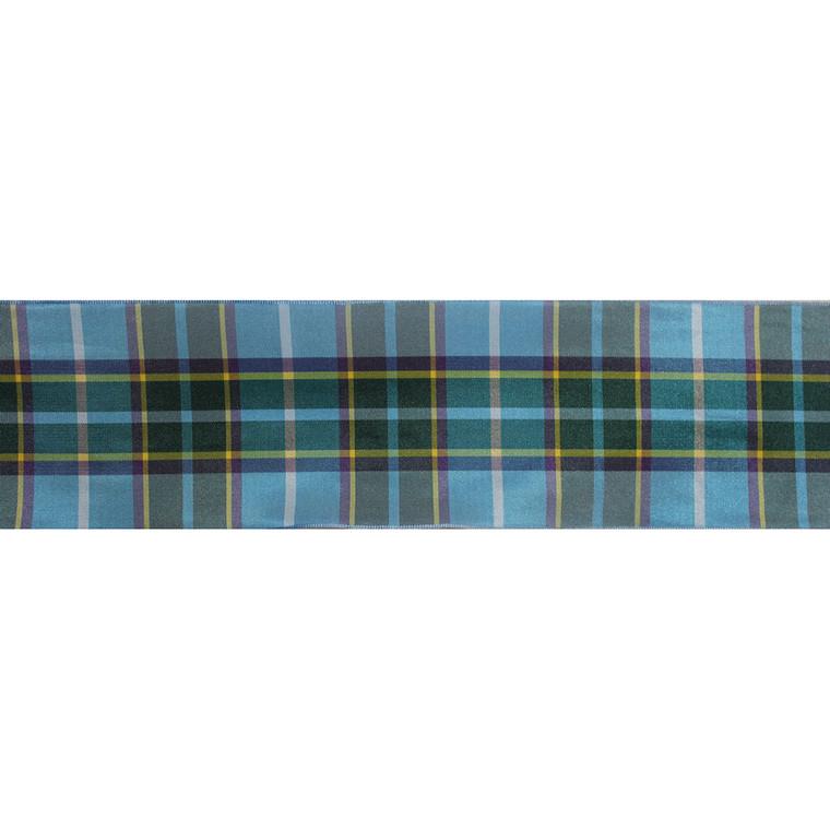 Wide Manx tartan ribbon