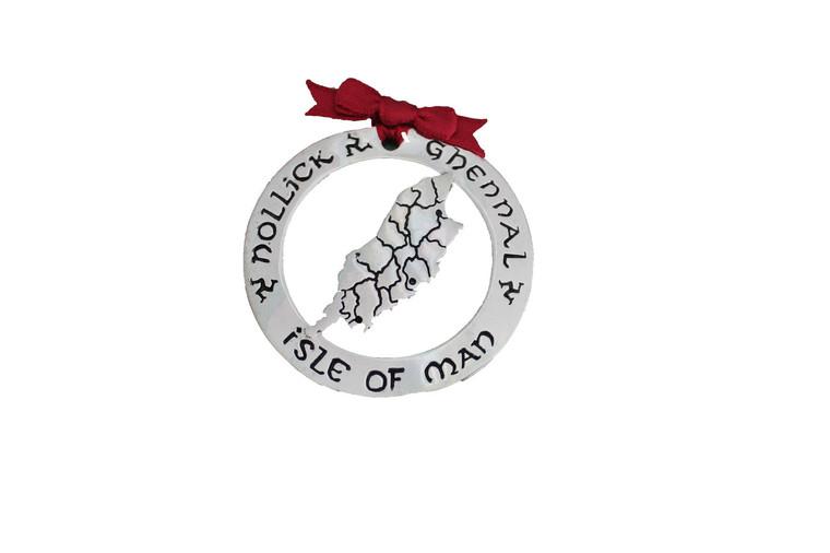Isle of Man, Island Shaped Christmas Decoration