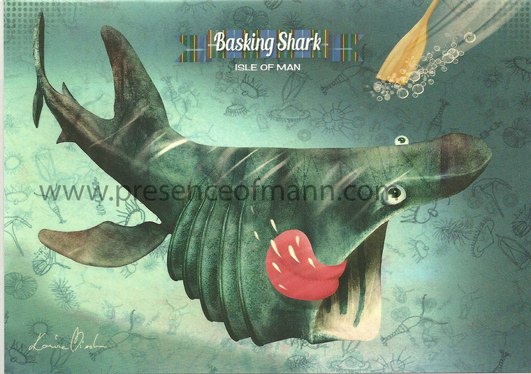 Kasia Mirska greetings card with basking shark