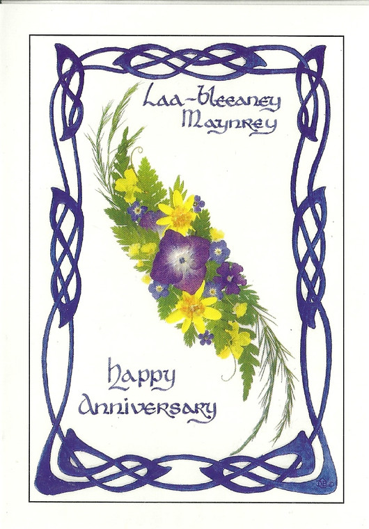 Dorcas Costain-Blann Happy Anniversary Greeeting Card