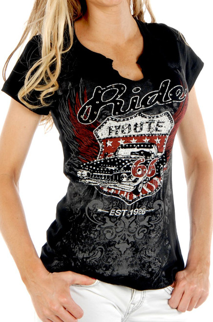 7173 Kicks on Route 66 - Ladies USA Made Shirt