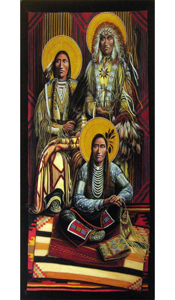 Archangels Michael, Gabriel and Raphael   Father John Giuliani   print